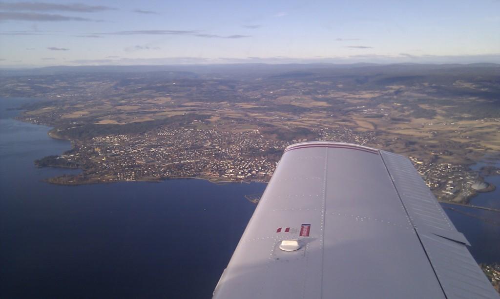 Og der passerte vi Hamar.