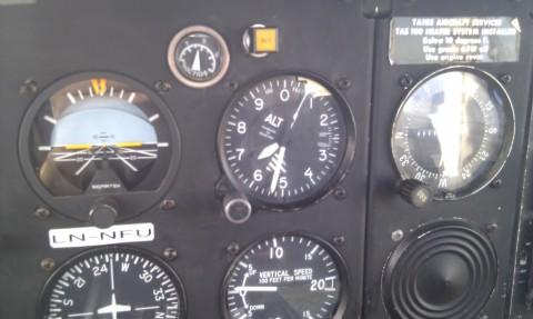 6500 fot, det høyeste jeg har flydd med småfly så langt.