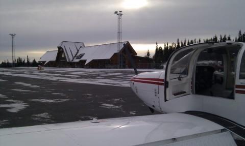 Lite aktivitet også ved terminalen på Fagernes.