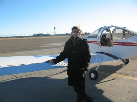 Flygeeken har landet på Gardermoen, men ikke som passasjer.