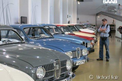 På Saab-museet i Trollhättan.