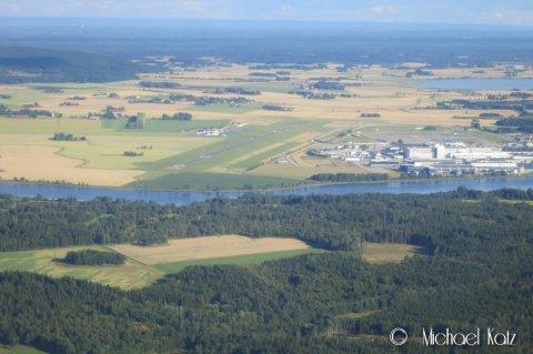 Trollhättan flygplats sett fra nord.