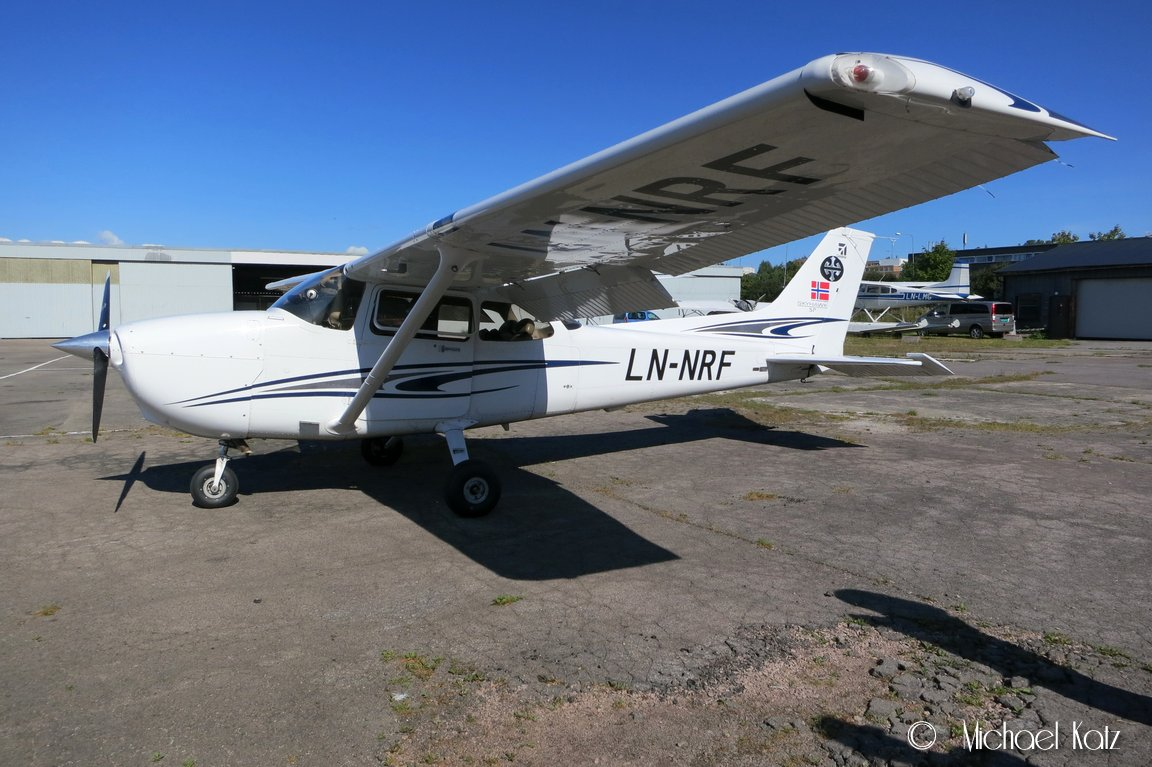LN-NRF, en av Nedre Romerike Flyklubbs to Cessna 172S.