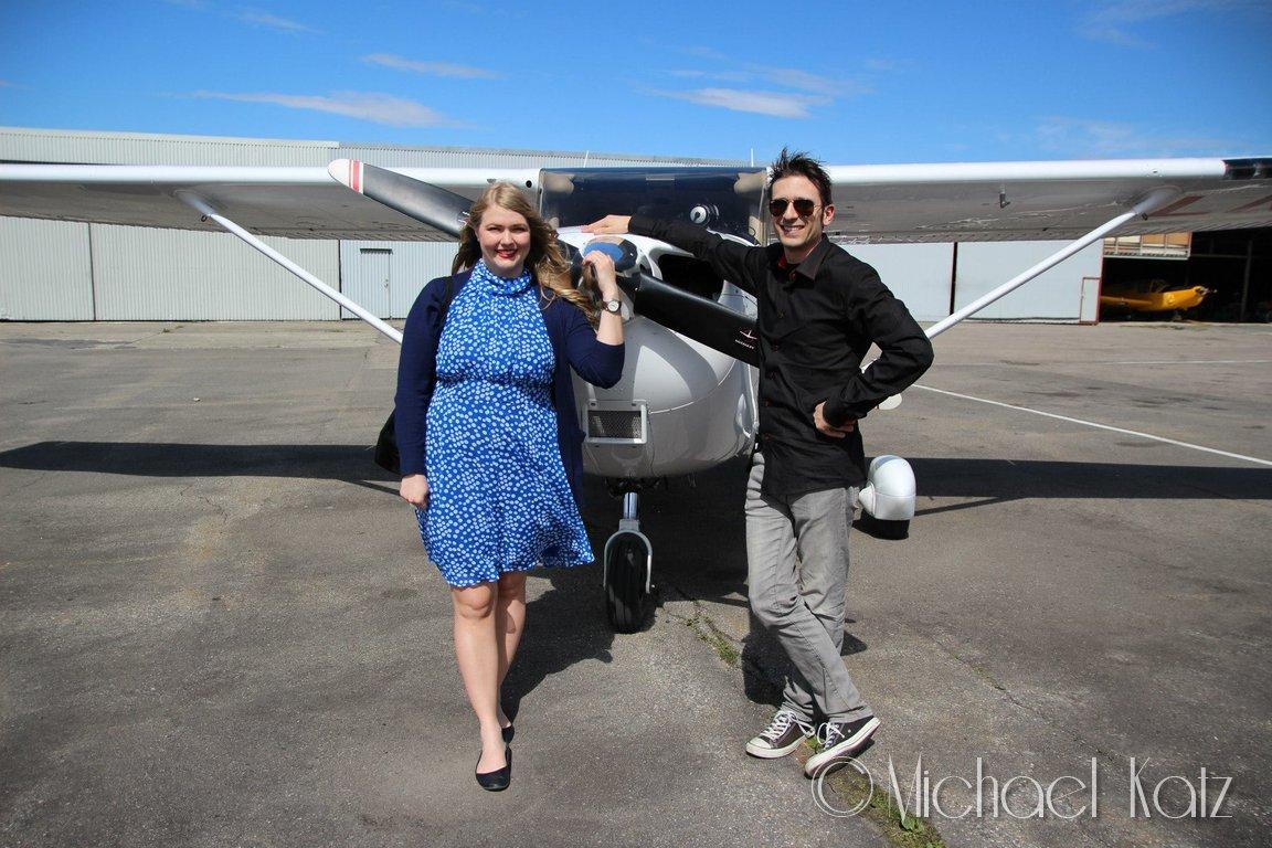Marit er storfornøyd etter sin første småflytur..