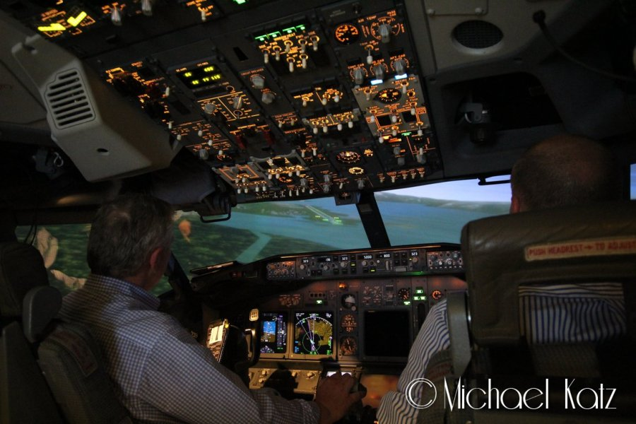Test av VOR-E approach til Alta i 737-800-simulator. Her med SAS.