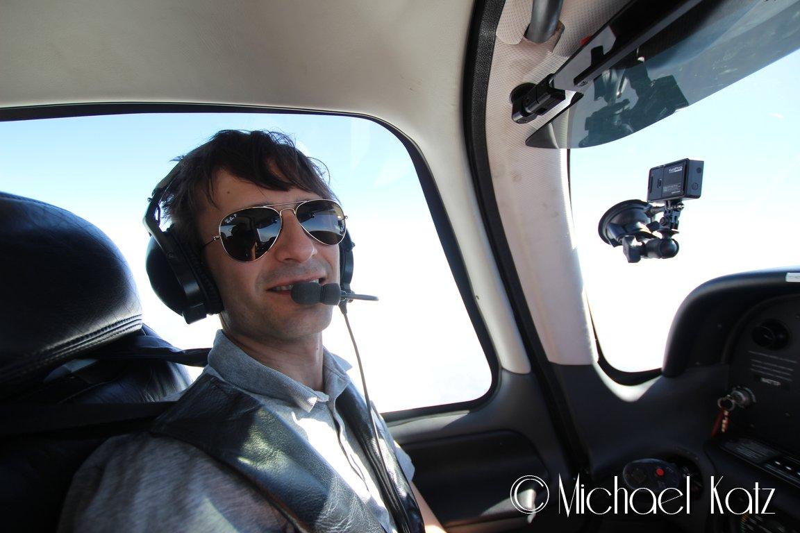 Ganske stor plass i kabinen sammenlignet med Cessna'en.