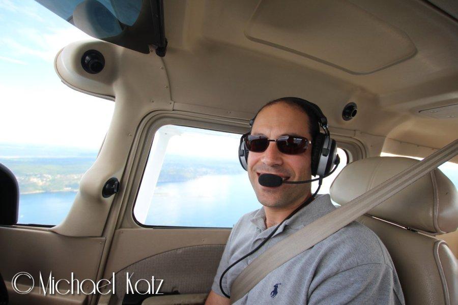 Min svoger, Shaul, på sin første småflytur.