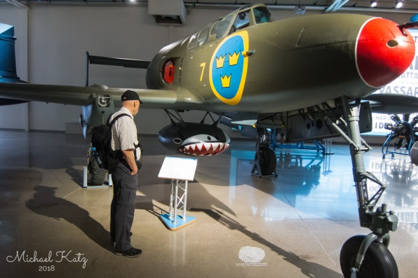 Flygvapenmuseum i Linköping har mange obskure SAAB militærfly. Her en SAAB 21 fra 1943.