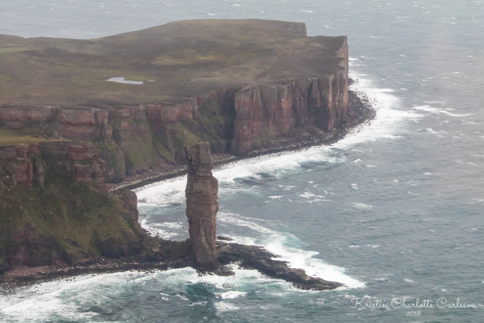Old Man of Hoy på øya Hoy, en staur som ligner på en gammel gubbe.