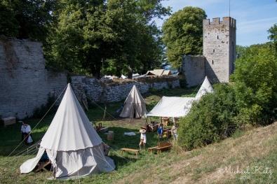 Telt fra middelalderen utenfor Visbys ringmur.