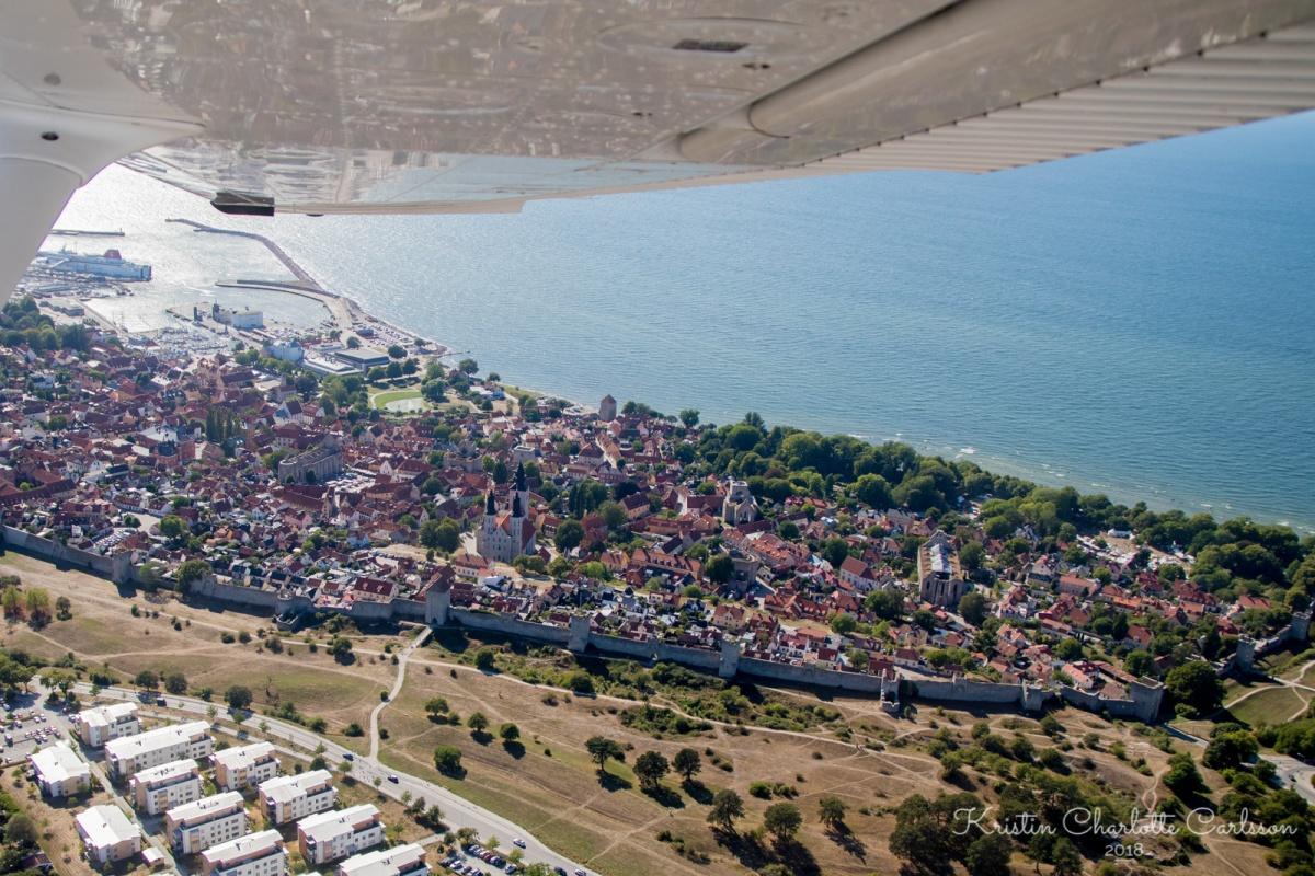 Utsikt over Visby etter avgang.